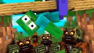 MONSTER SCHOOL : FUNNY ZOMBIE APOCALYPSE CHALLENGE - FUNNY Minecraft Animation