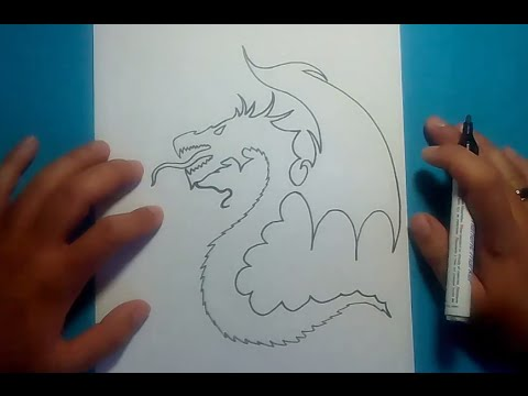 Como dibujar un dragon paso a paso 9 how to draw one for Sala facil de dibujar