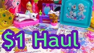 Disney Frozen Queen Elsa Olaf $1 Dollar Tree Toy Haul Barbie Doll My Little Pony Stickers Lps Video