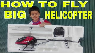 how to fly remote control helicopter big size