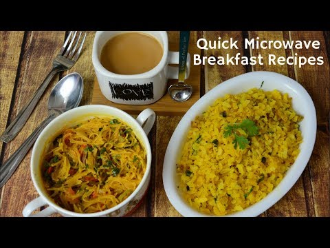 how to cook poha in microwave