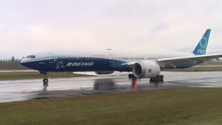 WATCH: Boeing 777X makes its first landing after successful test flight