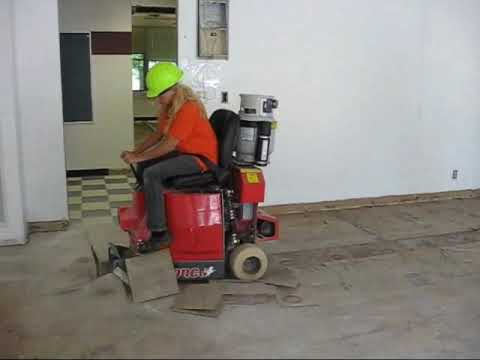 Carpet tile stripper removal