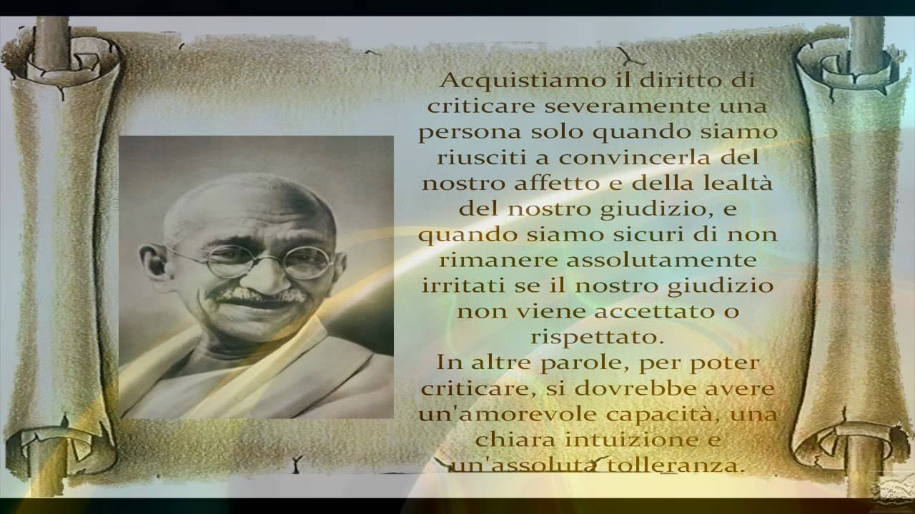 "Super Mahatma Gandhi (""grande anima"") FRASI - YouTube KB57"