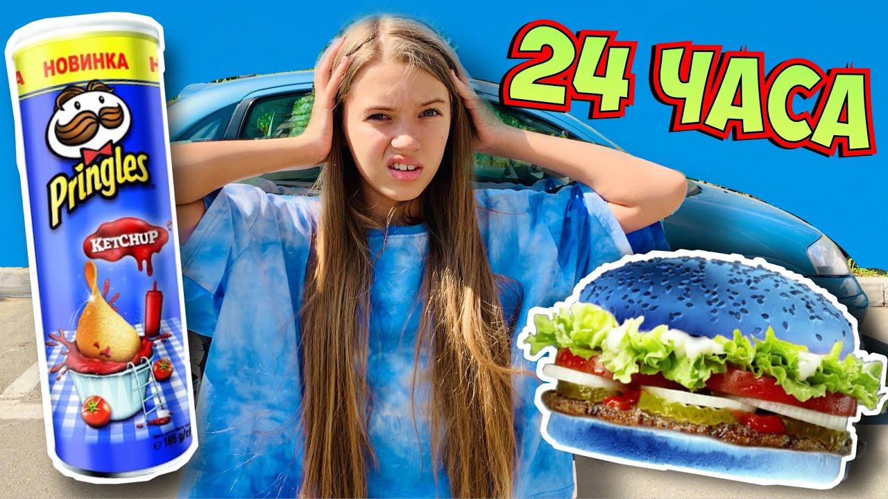 ЭКСТРЕМАЛЬНЫЙ ДЕНЬ / 24 ЧАСА только ОДИН СИНИЙ ЦВЕТ / секретный ИНГРИДИЕНТ В McDonalds / НАША МАША