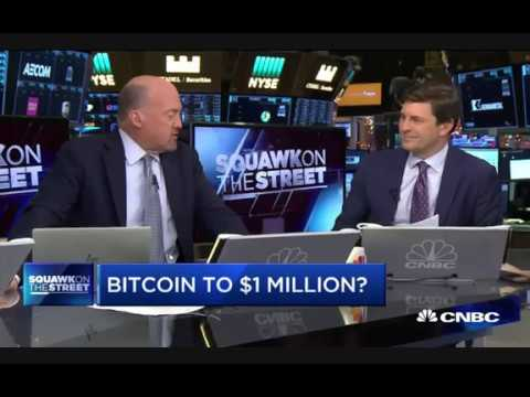 "Jim Cramer  ""Remarkable' that bitcoin people never sell it"""