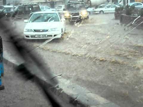 Raining hard in Kampala
