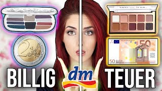 BILLIGE vs.TEURE Drogerie Produkte 💥 FULL FACE MAKE UP VERGLEICH! I Luisacrashion
