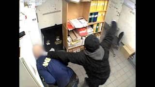 Övervakningsfilm: Brutala rånet på Netto i Lund