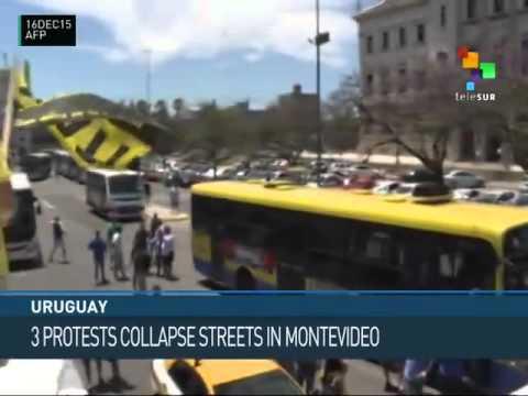 Uruguay: Labor Disputes Spark Protests en  Montevideo
