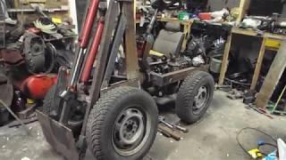 #Самодельный трактор 4х4 погрузчик для Марка СПБ /  Обзор трактора №2