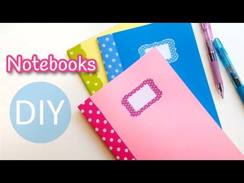 DIY crafts: NOTEBOOKS (Back to school) - Innova Crafts