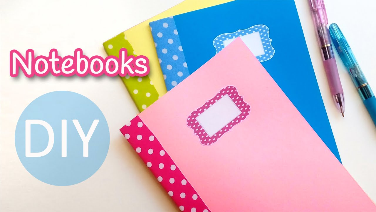Diy crafts notebooks back to school innova crafts for How to make craft