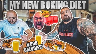 My New Boxing Diet | Full Day Of Eating | 6,000 Calories