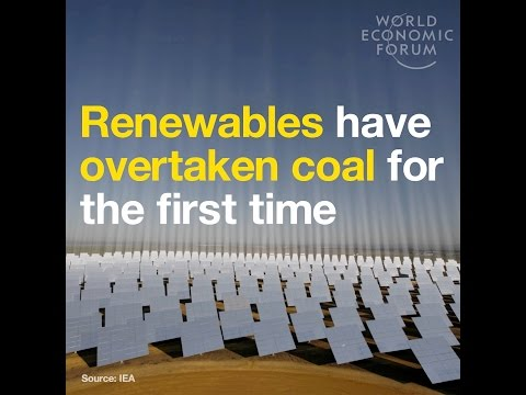 Renewables have overtaken coal for the first time