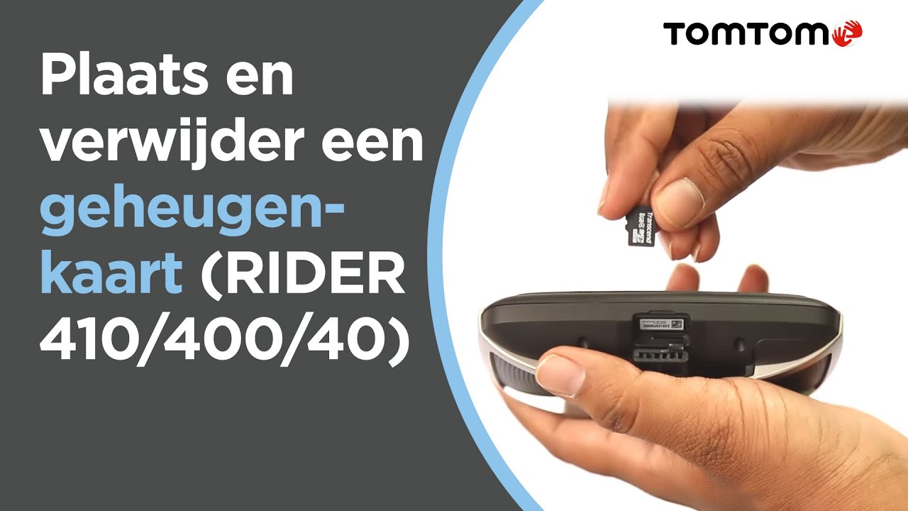 Plaats En Verwijder Een Geheugenkaart Rider 410 400 40 Youtube