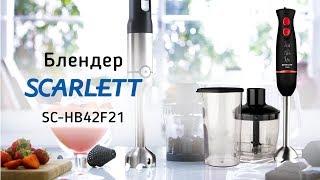 Погружной блендер Scarlett SC-HB42F21 - видео обзор