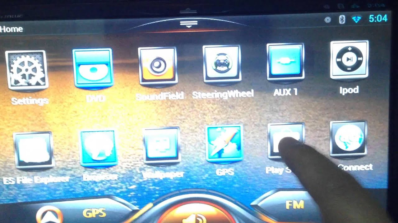 Quad Core 1 7ghz Pure Android Car Dvd Player Show Youtube