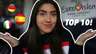 My Eurovision 2018 top 10! (from the UK) ♡