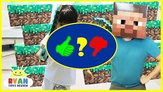 MINECRAFT Roblox und Slither.io im wirklichen Leben! Family Fun Pretend Play Surprise Toys - Video Review