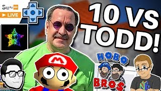 10 YouTubers vs TODD ROGERS (Super Mario 64 Speedrun) ft. SimpleFlips, Hobo Bros, Nathaniel Bandy