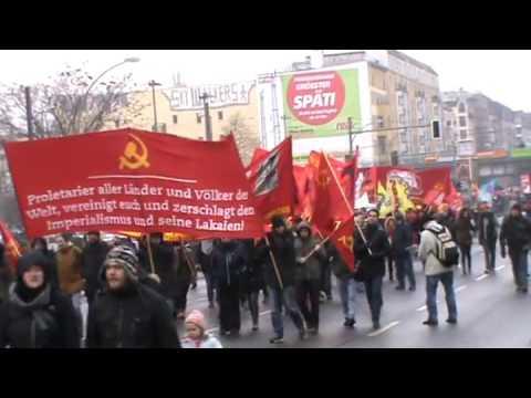 Lenin-Liebknecht-Luxemburg Demonstration 2016 in Berlin