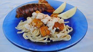 Smoked Lobster & Shrimp Fettuccine