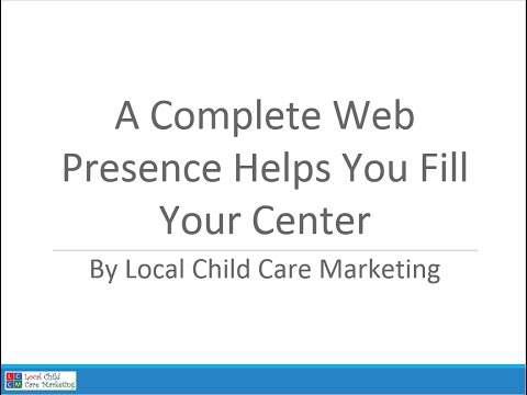 Webinar Recording: A Complete Web Presence Helps You Fill Your Center
