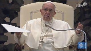 Catechesi di Papa Francesco nell'Udienza Generale del 10 gennaio 2018