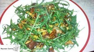 Салат из жареных лисичек
