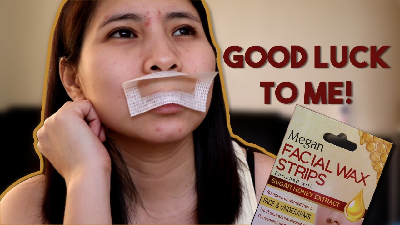 Nagtanggal Ako Ng Bigote Using Megan Facial Wax Strips Youtube