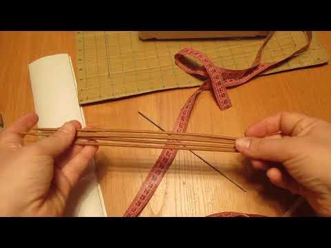 1 урок. Как крутить трубочки из газет. Шкатулка для рукоделия из газетных трубочек.