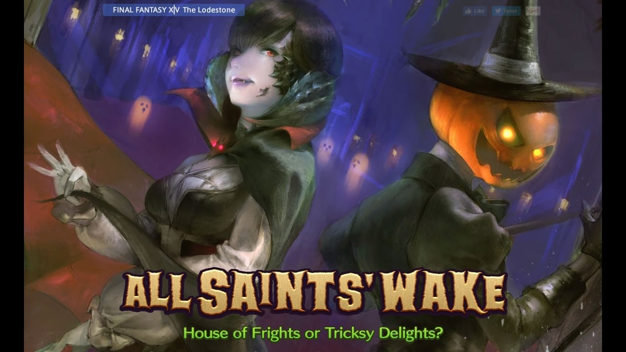 final fantasy xiv all saints wake 2016 halloween event youtube