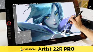 PRO TABLET ON A BUDGET! - XP-Pen 22R Review + Painting