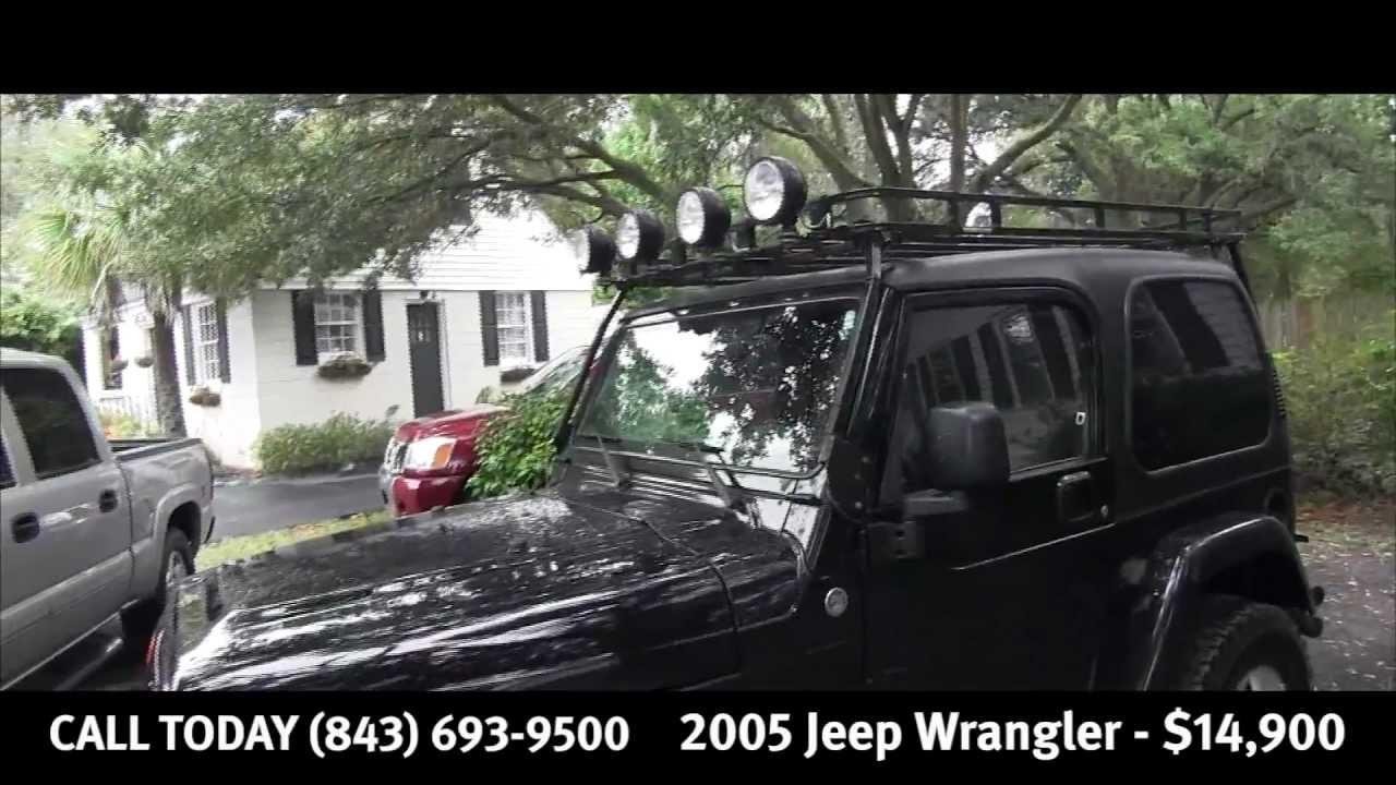 2005 jeep wrangler for sale simmons motor company charleston sc youtube. Black Bedroom Furniture Sets. Home Design Ideas