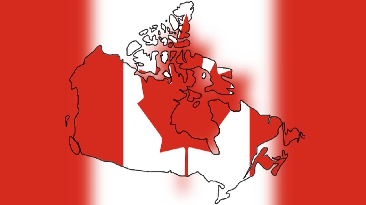 Canada Flag Map Sd art - YouTube on