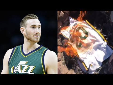 Gordon Hayward Fans BURN His Jersey After Signing with the Celtics