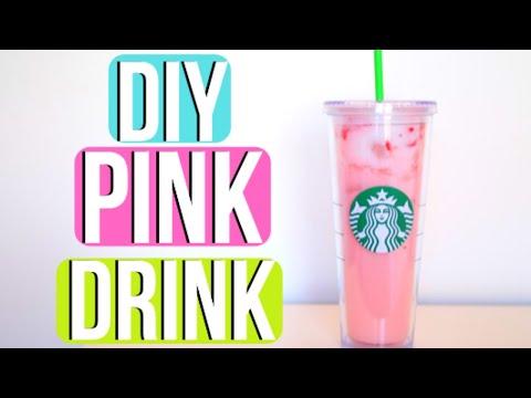 DIY STARBUCKS PINK DRINK!