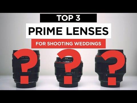 My 3 Favorite Prime Lenses for Wedding Filmmakers