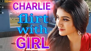 Charlie flirt with girl in pubg || Valentine's special || troll girls || ufogaming || alienarmy