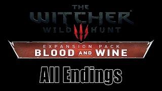 Ведьмак 3 Дикая Охота Кровь и Вино Все Три Концовки Финалы Конец Игры Фин The End Ending Final Fin