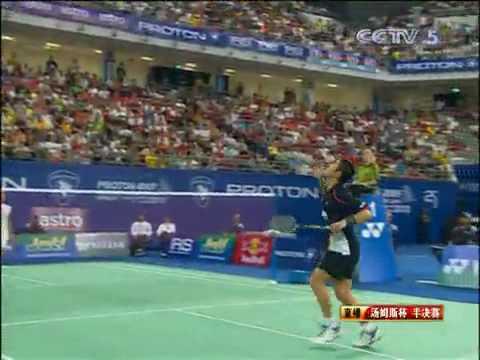 Thomas Cup 2010 Sho Sasaki vs Simon Santoso Mens Singles Semi Final 10/13 from YouTube · Duration:  5 minutes
