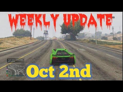 Gta 5 Weekly Update ***Oct 2nd ***