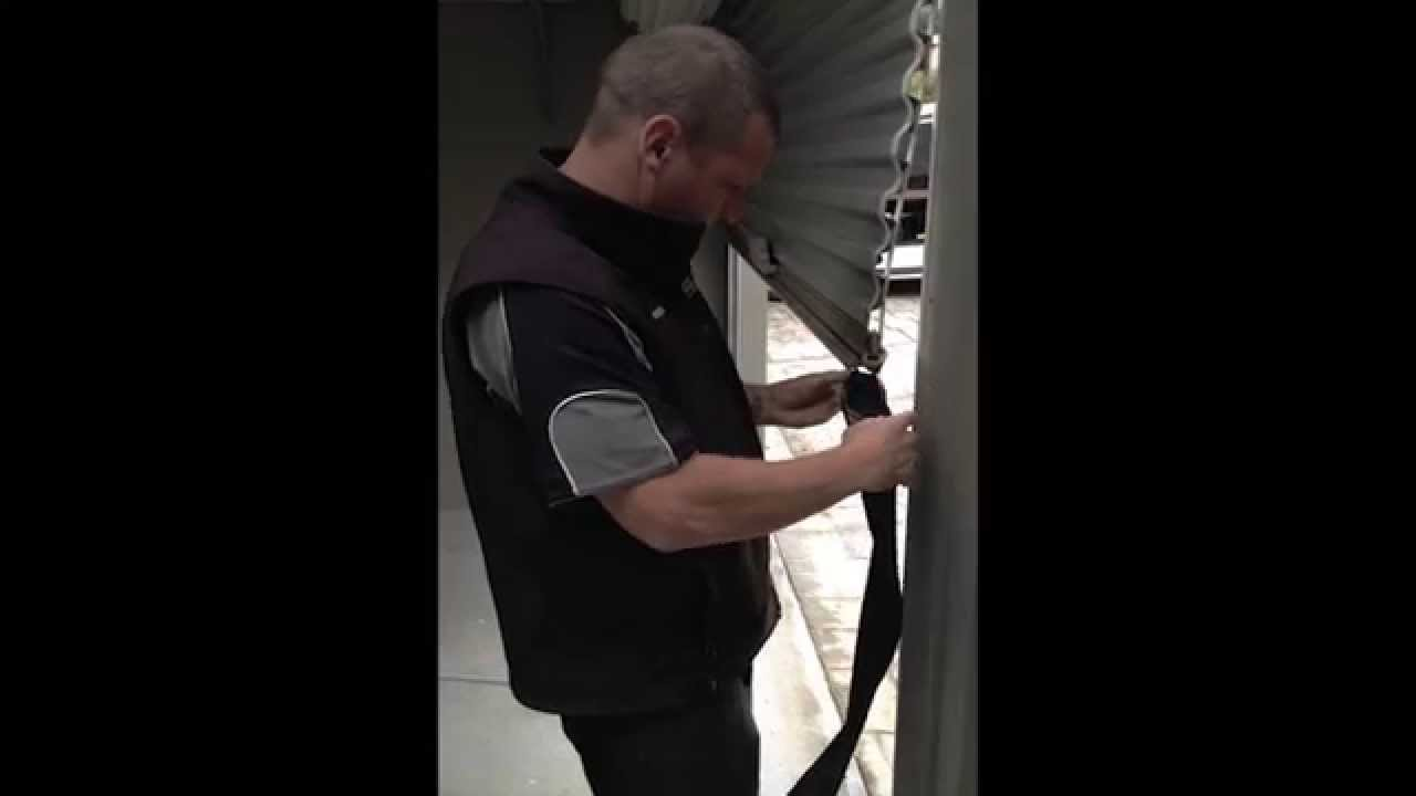 How To Replace The Draft Seal On A Roller Door Youtube