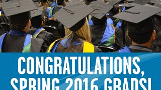 Grads Giving Thanks Announcement - Spring 2016