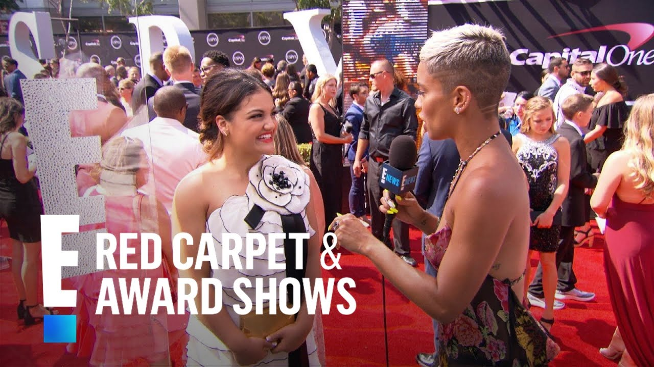 Laurie hernandez teases her celeb crush e live from the red carpet youtube - Watch e red carpet online ...