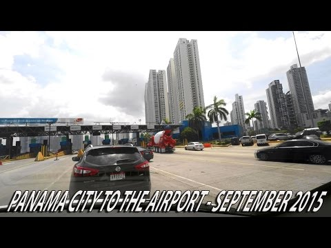 Taxi ride Panama City, Panama to the airport 2X speed (no audio) September 2015
