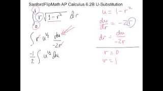 SanfordFlipMath AP Calculus 6.2B u-Substitution