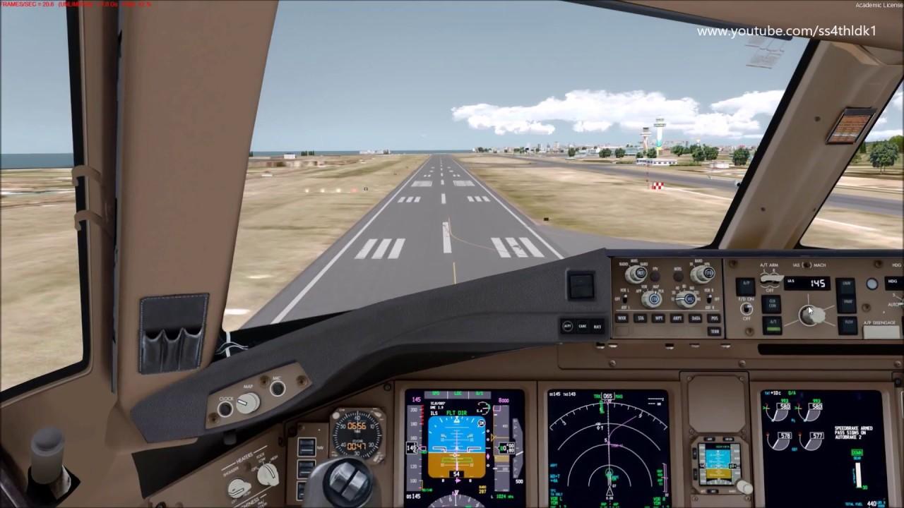 P3D v4 1 PMDG 777 takeoffs and landings compilation