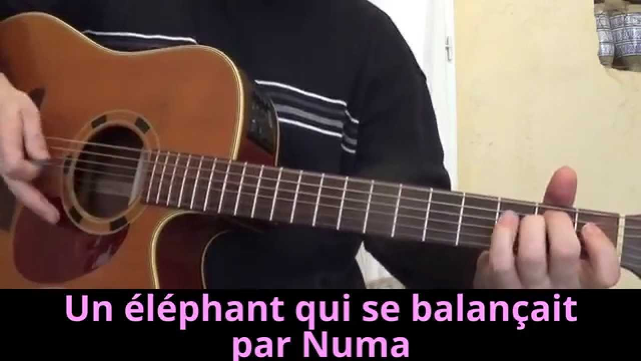 partition guitare un elephant qui se balancait